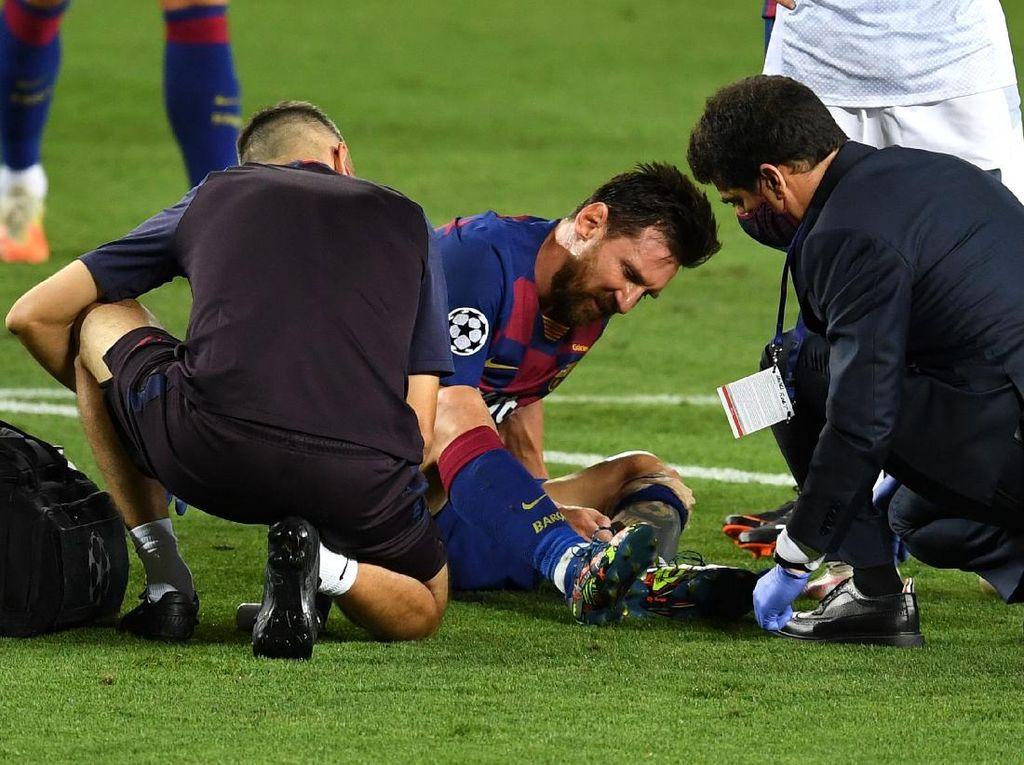 Barcelona Vs Napoli: Messi Kesakitan, Bagaimana Kondisinya?