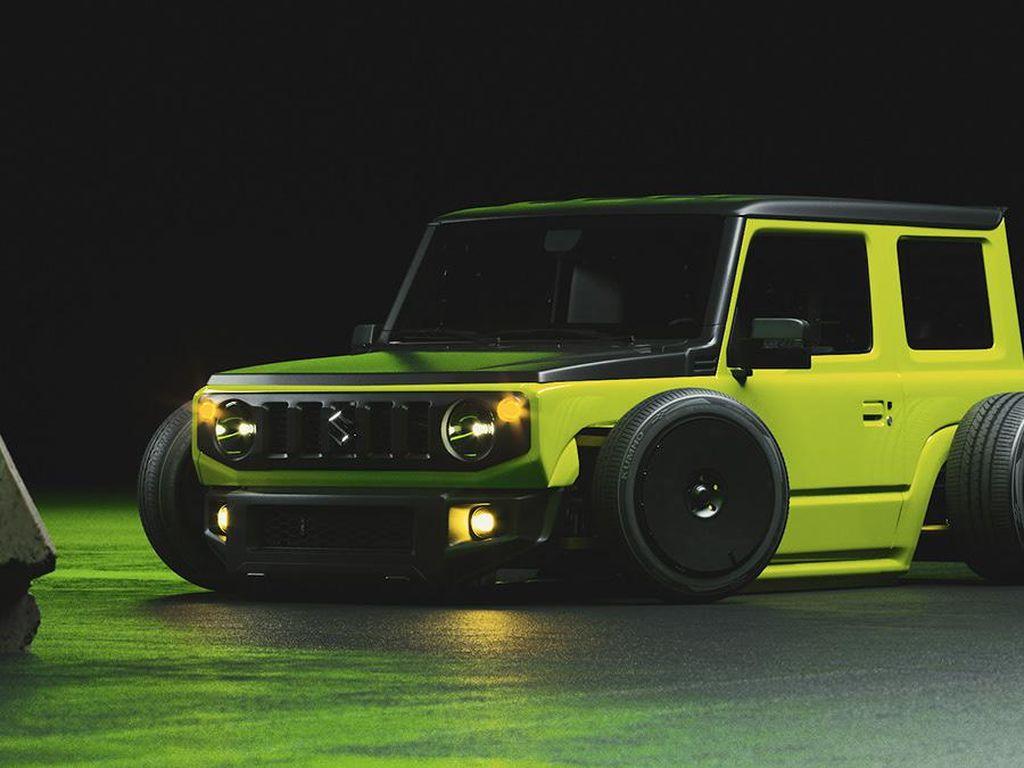 Lucu Banget, Begini Jadinya Jika Suzuki Jimny Dibuat Ceper