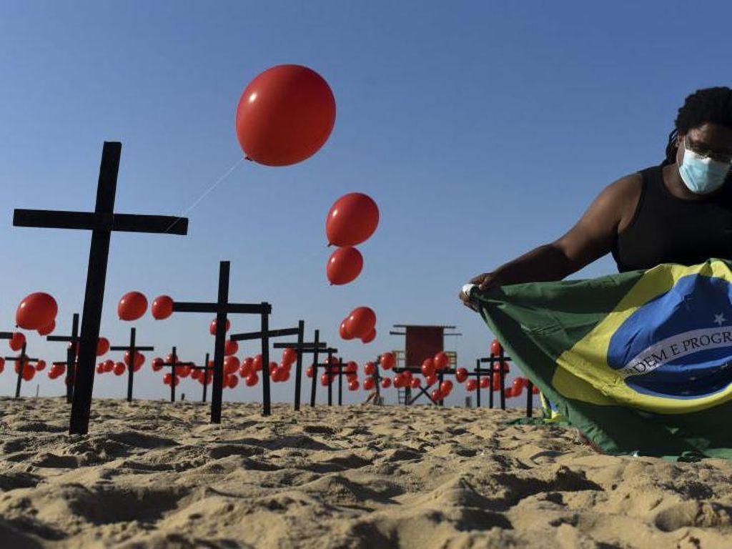 Lagi, Brasil Catat 1.972 Kematian Covid-19 Dalam Sehari