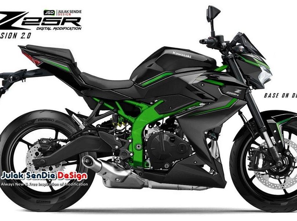Kawasaki Ninja ZX-25R Versi Naked, Seperti Inikah Wujudnya?