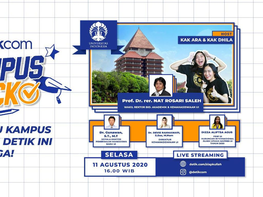 Sapa Para Calon Mahasiswa Indonesia, UI Tampil di Kampus Check detikcom!
