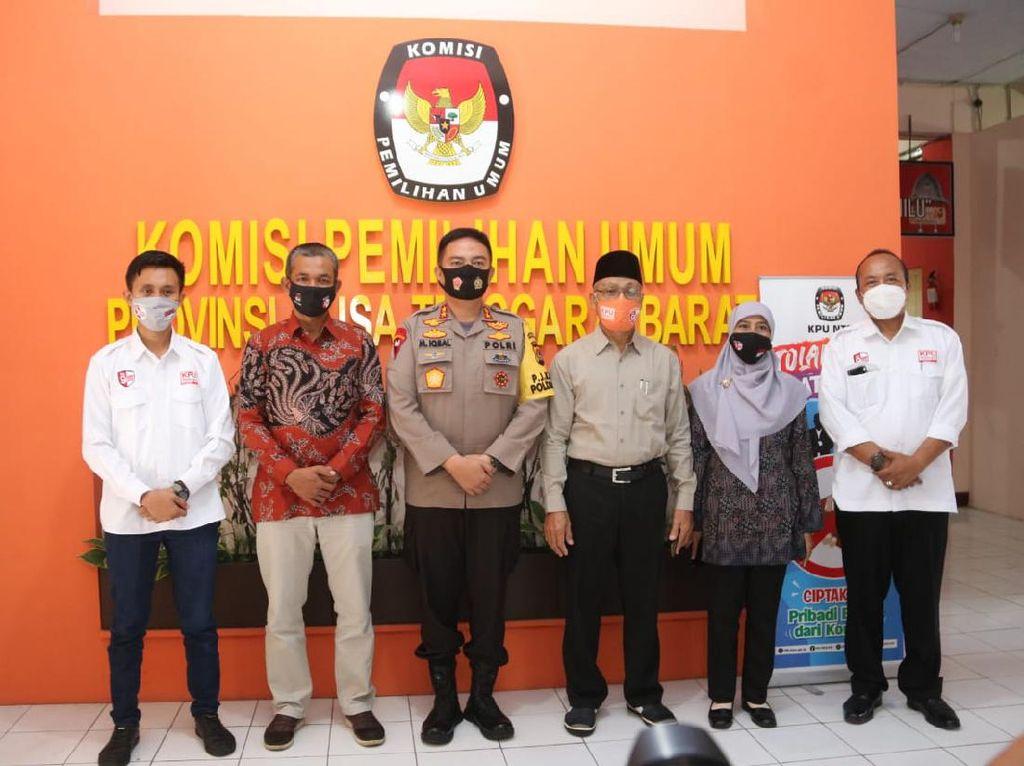 Silaturahmi dengan KPU, Kapolda NTB Jamin Keamanan Pilkada Serentak
