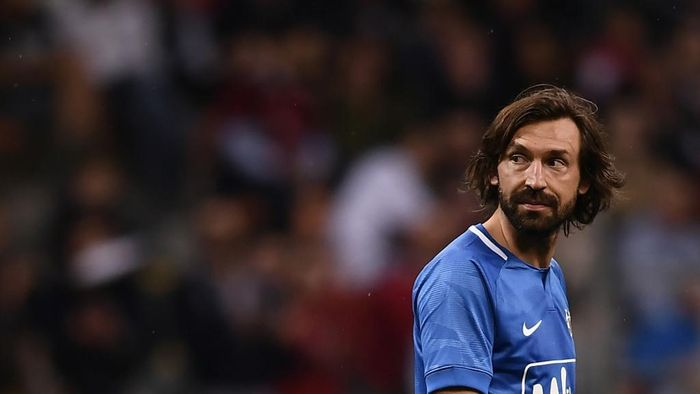 Former Italian football player Andrea Pirlo looks on during the