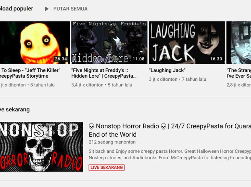 4 Channel YouTube Terseram dari Luar Negeri, Bukan Untuk Penakut!