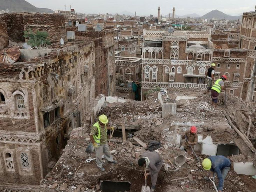 Bangunan Peninggalan Sebelum Abad 11 di Yaman Luluh Lantak Akibat Banjir