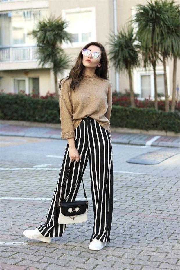 Model celana yang tepat untuk pinggul besar.