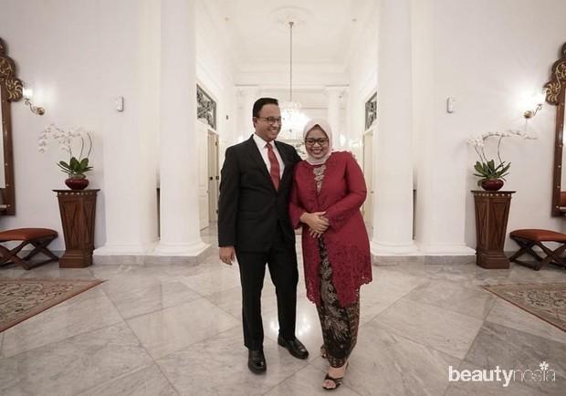 Koleksi foto istri Gurbernur DKI Jakarta Anies Baswedan, Fery Farhati saat memakai busana kebaya.