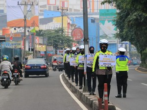 2.689 Kendaraan Ditilang di Jalur Cepat Margonda Depok Selama Sepekan