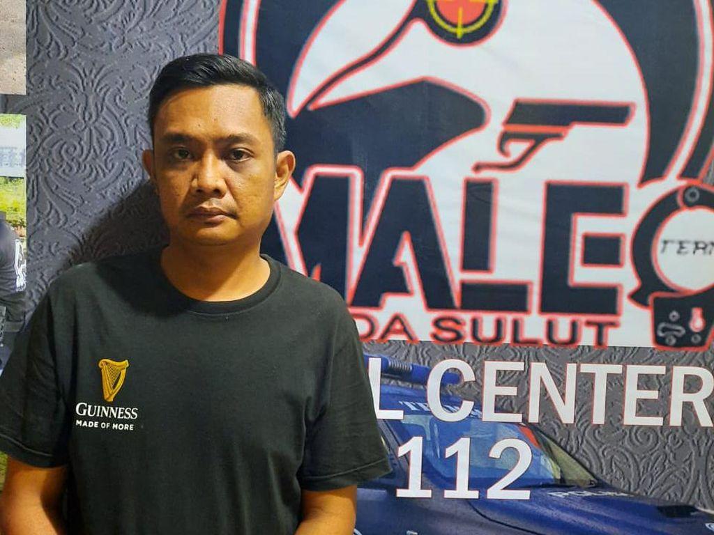 Pelaku Penggelapan Motor di Manado Ditangkap Polisi Usai Jatuh dari Plafon