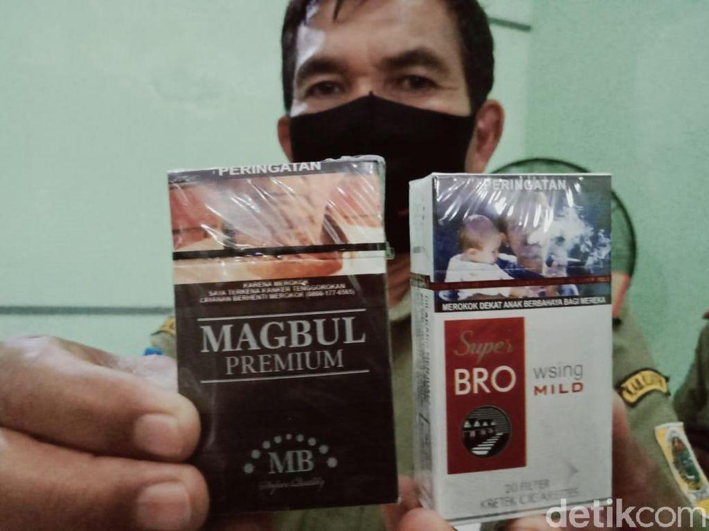 Penampakan Bungkus Rokok Ilegal Bermerek Lucu yang Disita di Klaten