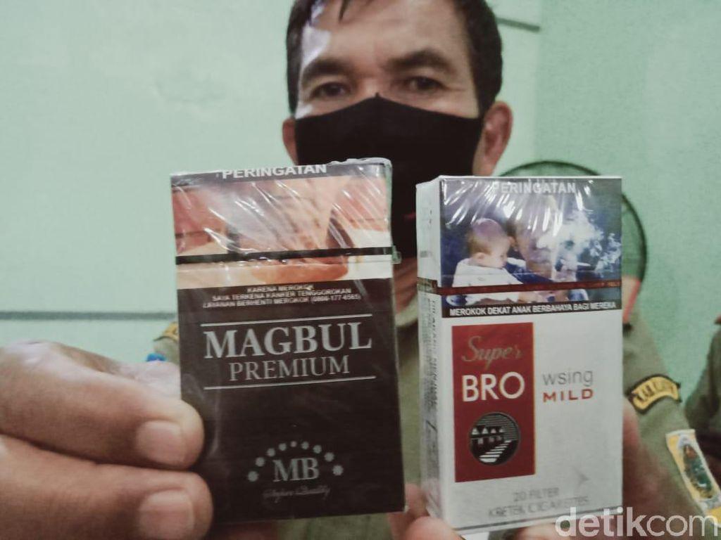 Ratusan Bungkus Rokok Ilegal Bermerek Lucu Disita di Klaten