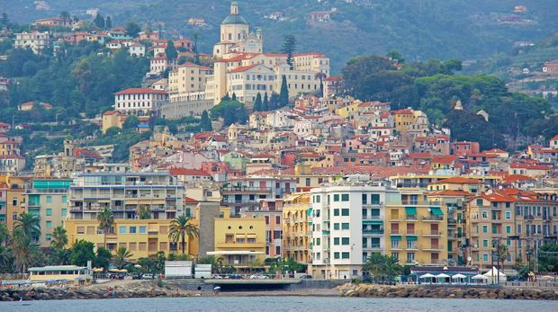City of San Remo, Italy, view from the sea