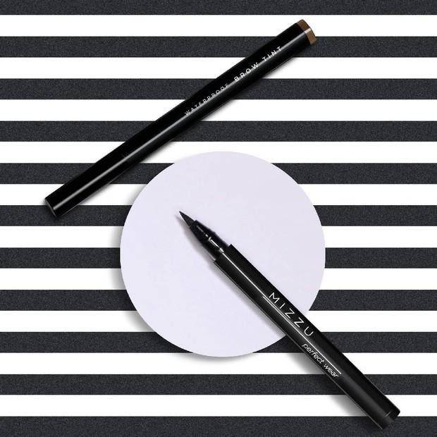 Eyeliner spidol lokal dari Mizzu yang pigmented dan mudah digunakan