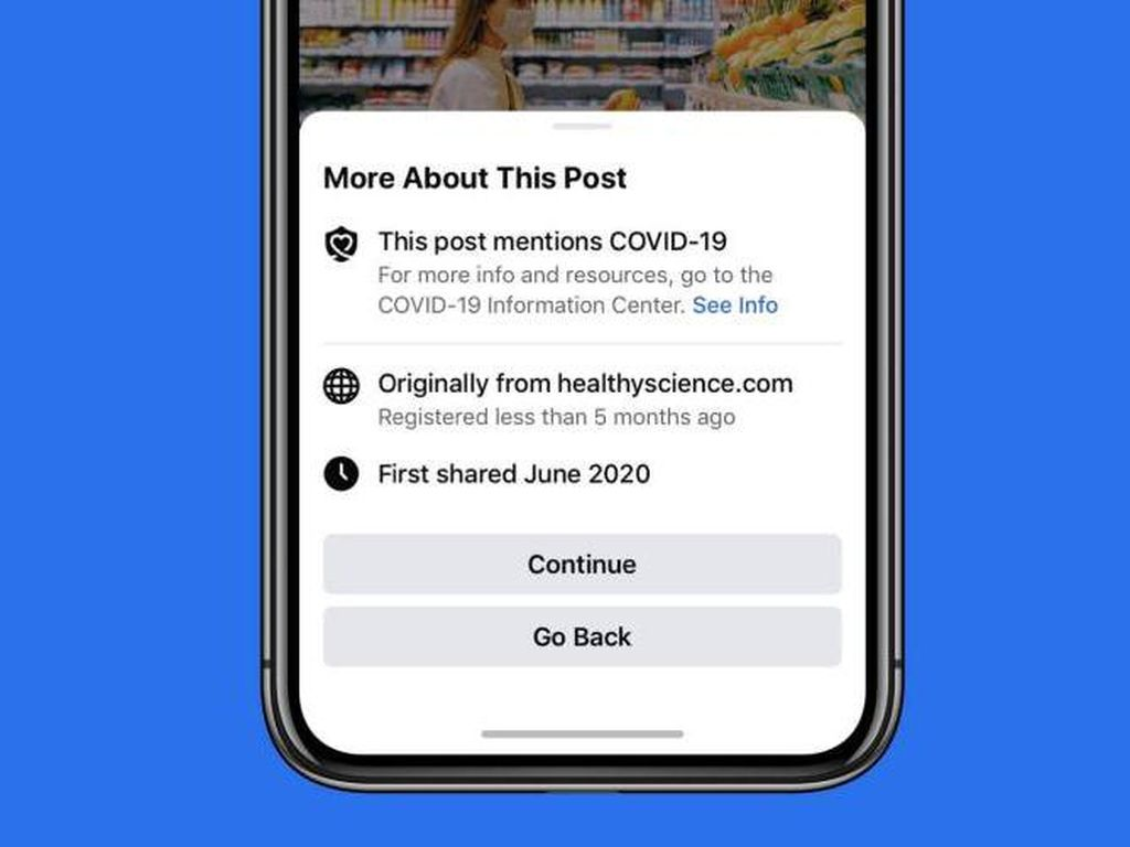 Facebook Akan Ingatkan Pengguna Sebelum Bagikan Artikel COVID-19