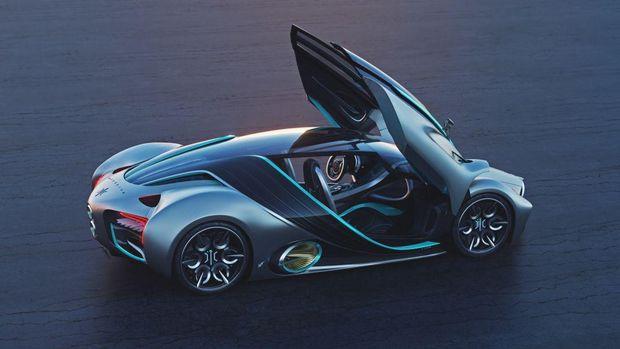 Hyperion XP-1, supercar bertenaga hidrogen dari fuel cell.