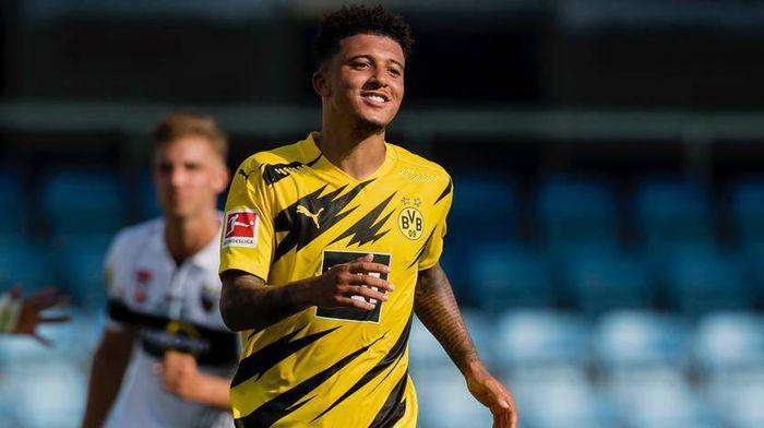 Jadon Sancho di laga ujicoba Borussia Dortmund melawan Altach, Kamis 12 Agustus 2020.