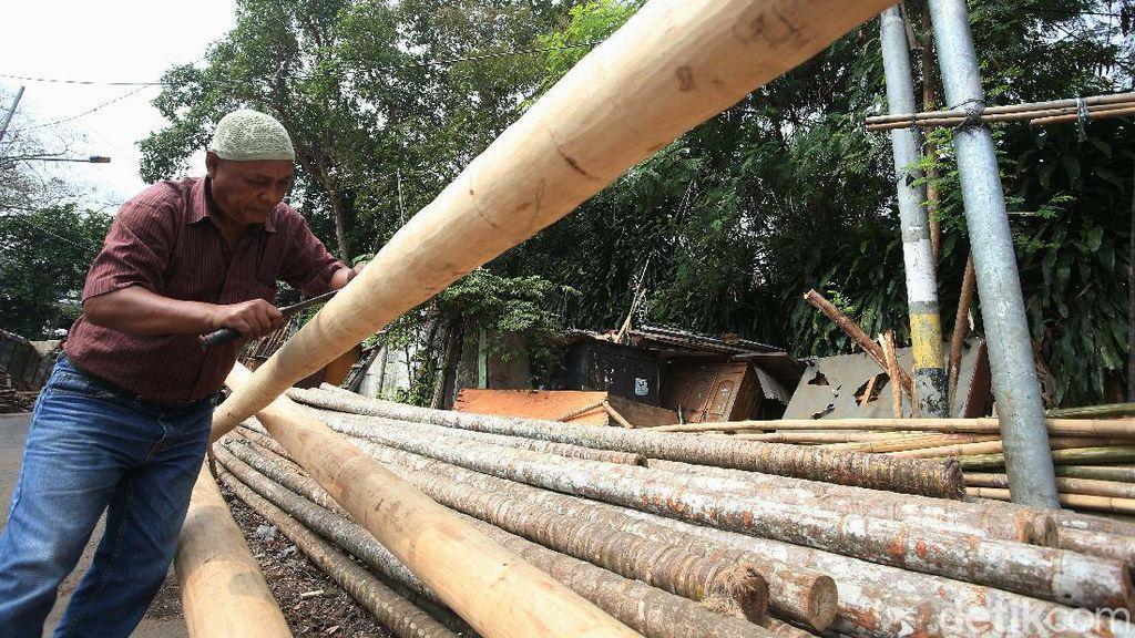 Foto Penjual Pohon Pinang Siap Meriahkan HUT RI