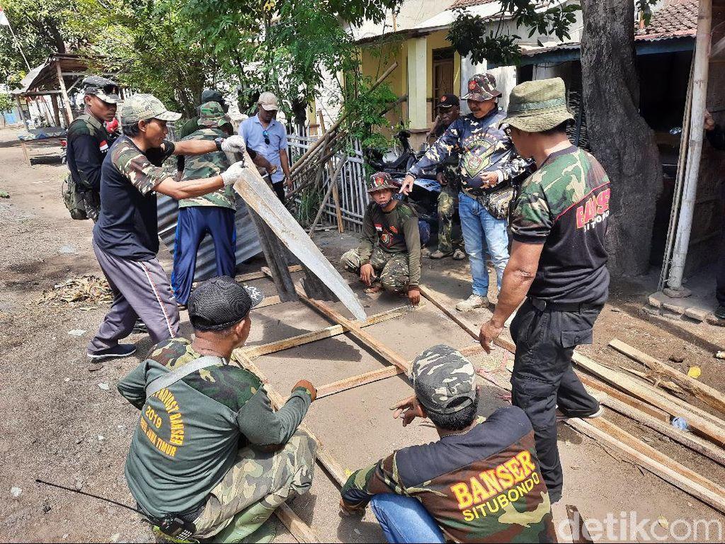 Puluhan Rumah Rusak Akibat Aksi Brutal Oknum PSHT Mulai Diperbaiki