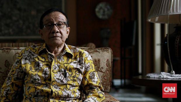 Politikus dan mantan Ketua DPR-RI, Ir. Akbar Tandjung. CNN Indonesia/Andry Novelino
