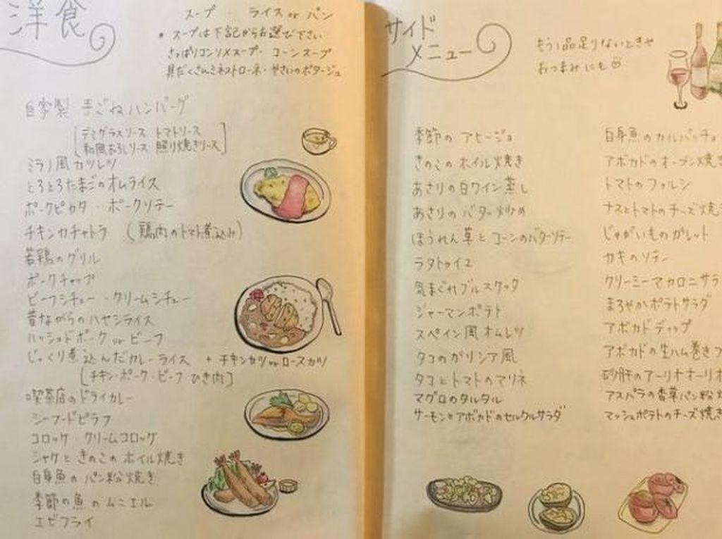 Wanita Ini Bikin Buku Menu Kreatif Untuk Solusi Mau Makan Apa?