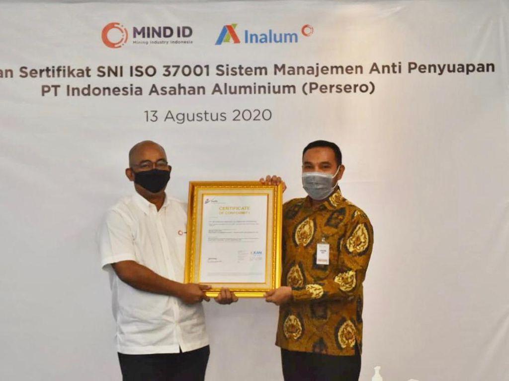 Terapkan Sistem Antisuap, MIND ID Peroleh Sertifikasi SNI ISO 37001