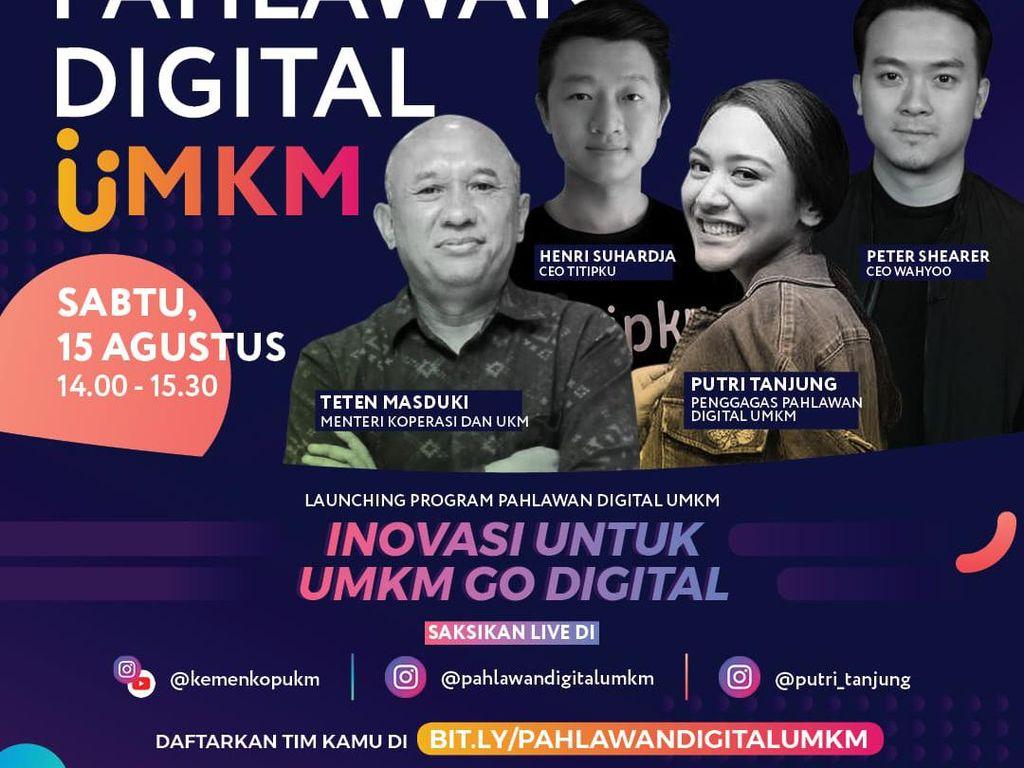 Putri Tanjung dan Menkop Teten Masduki Berburu Pahlawan Digital