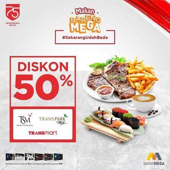 Promo Kemerdekaan Makan Bareng Bank Mega Diskon 50
