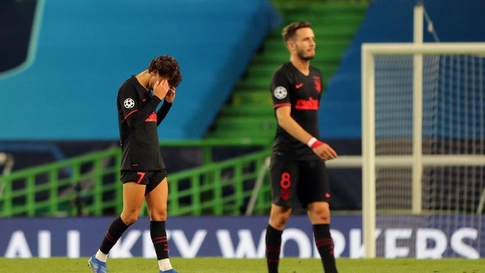 LISBON, PORTUGAL - AUGUST 13: Joao Felix of Atletico de Madrid looks dejected following his teams defeat in the UEFA Champions League Quarter Final match between RB Leipzig and Club Atletico de Madrid at Estadio Jose Alvalade on August 13, 2020 in Lisbon, Portugal. (Photo by Miguel A. Lopes/Pool via Getty Images)