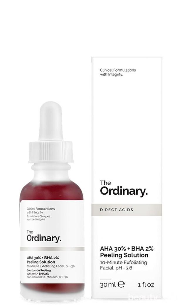 Produk skincare The Ordinary untuk mengatasi bruntusan.
