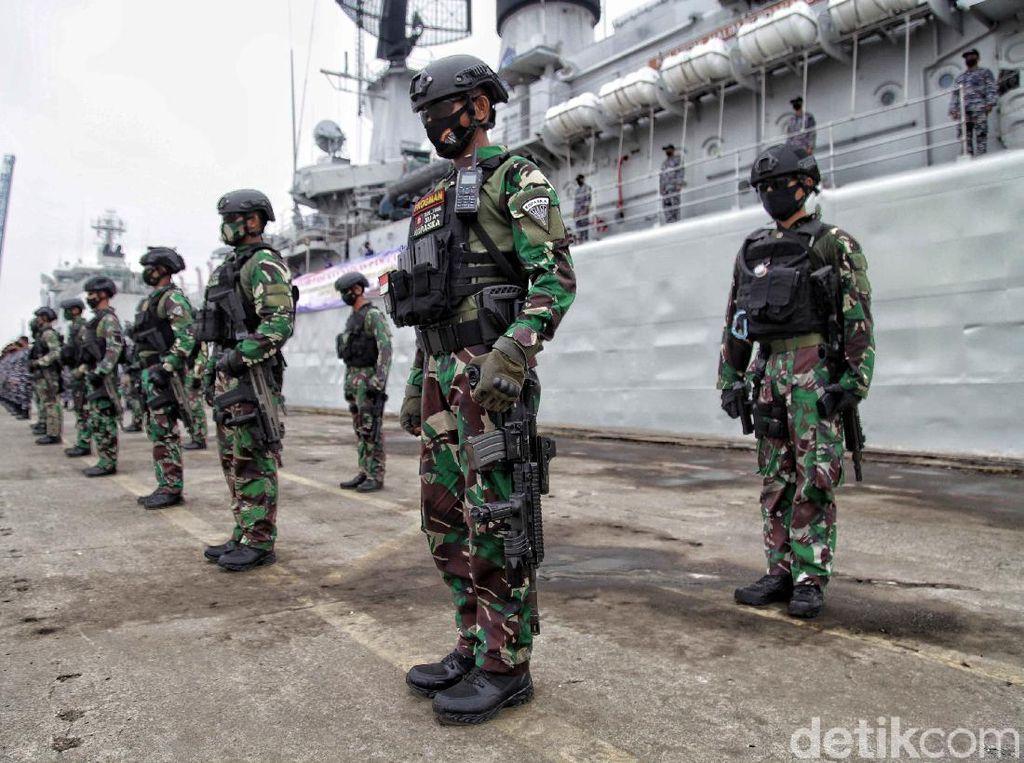 TNI AL Koarmada 1 Gelar Pasukan Pengamanan HUT RI