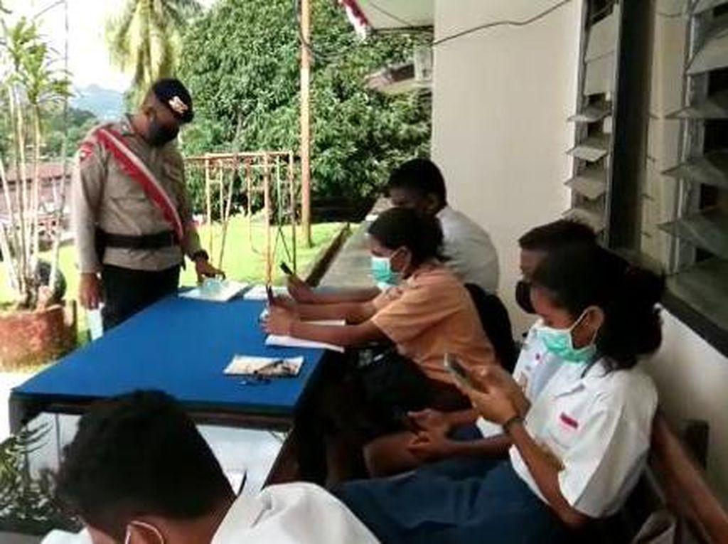 Mako Brimob di Ambon Sediakan Wifi Gratis untuk Pelajar di Tengah Pandemi