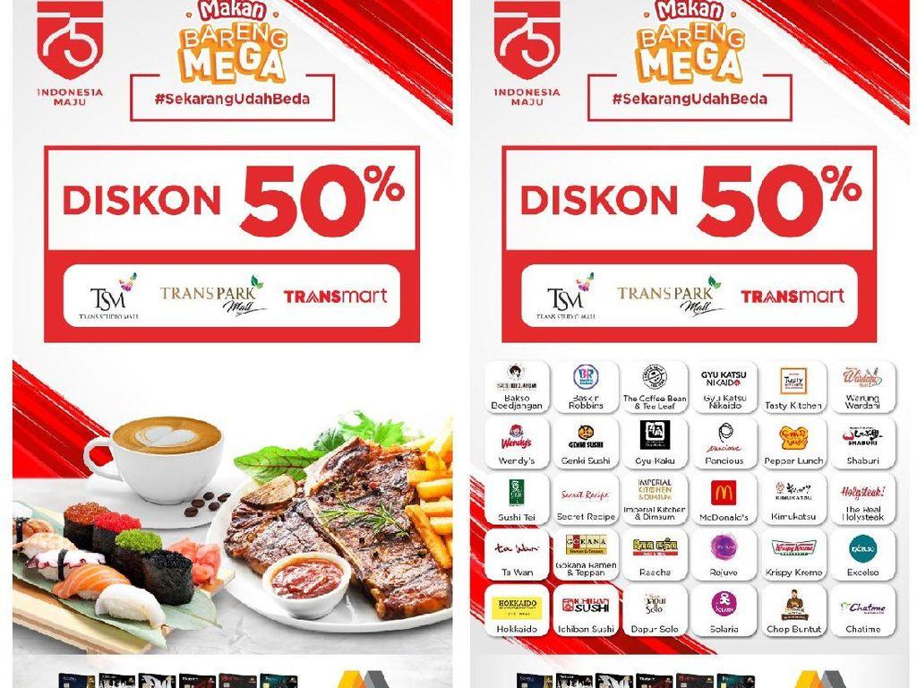 Promo Kartu Kredit Bank Mega, Bayar Makan Cuma Separuh Harga