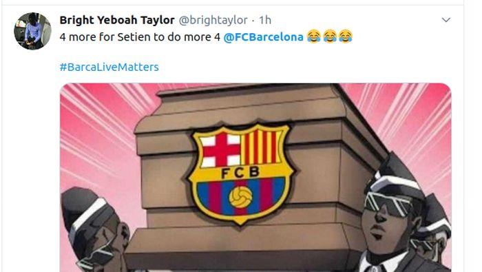 meme sepakbola meme barcelona barcelona vs bayern munich liga champions lionel messi
