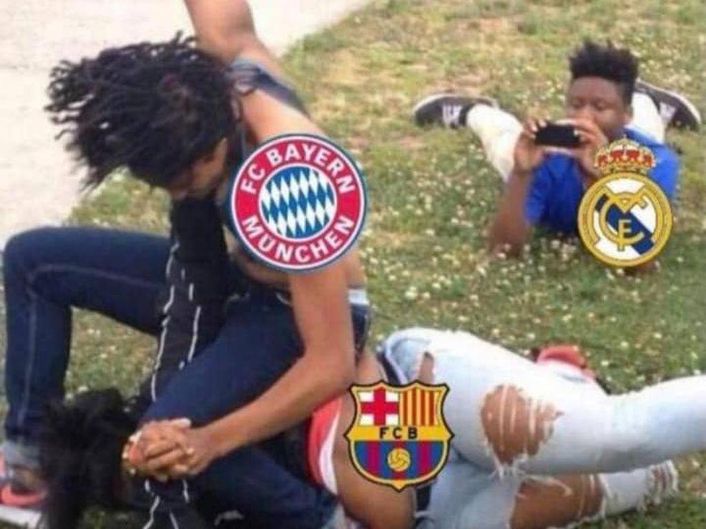 Video: Meme Kocak Barcelona Dibantai Gila-gilaan Bayern Munchen