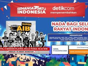 Konser Virtual detikcom Semangat Satu Indonesia yang Mengasyikkan