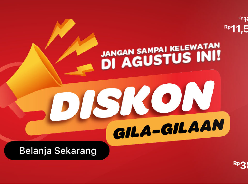Sambut HUT RI, e-Catalogue Transmart Banjir Promo Gila-gilaan