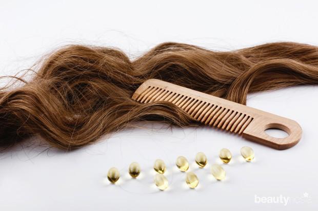 Rutin menggunakan masker rambut dan vitamin rambut.