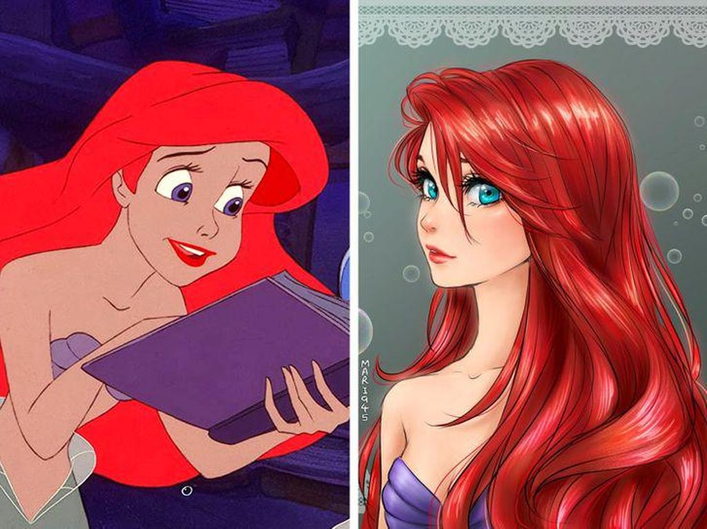 Kala Karakter Cantik Disney Disulap Versi Anime