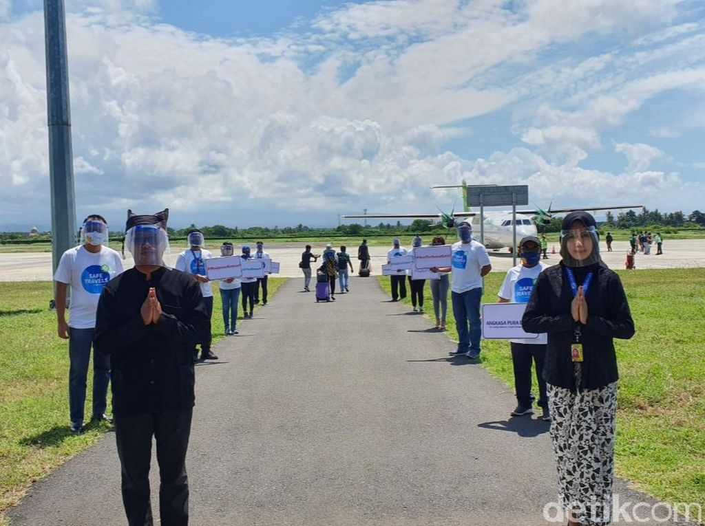 Peringatan HUT Ke-75 RI, Bandara Banyuwangi Gelar Safe Travel Campaign