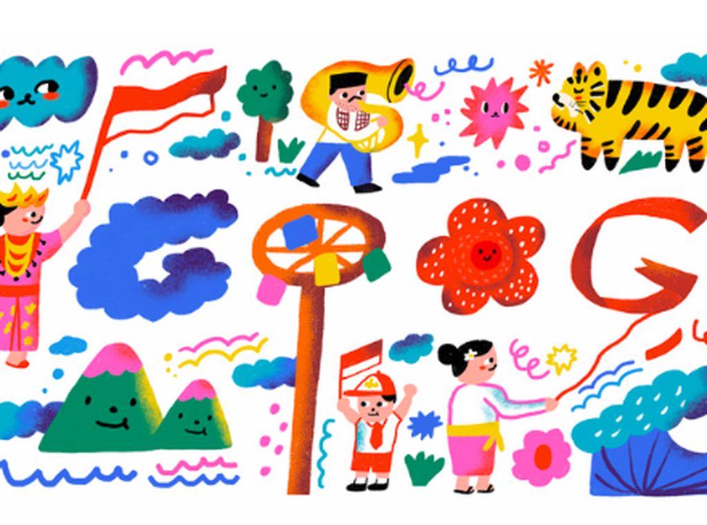 Google Doodle Ikutan Meriahkan HUT ke-75 RI