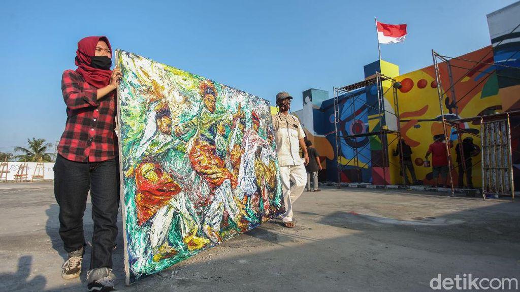 Goresan Pelukis Pasar Gembrong di Hari Kemerdekaan