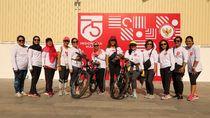 Peringati HUT ke-75 RI, Diaspora dan WNI di Kamboja Gowes Bersama