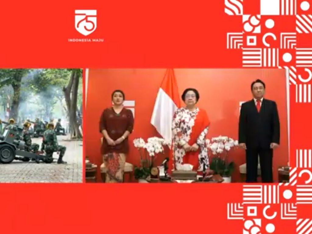 Megawati hingga JK Hadiri Upacara HUT RI Ke-75 Secara Virtual