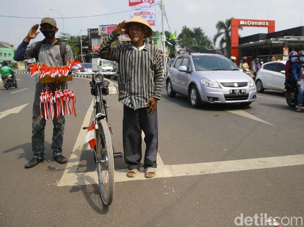 Potret Peringatan Detik-detik Proklamasi di Jalan Raya