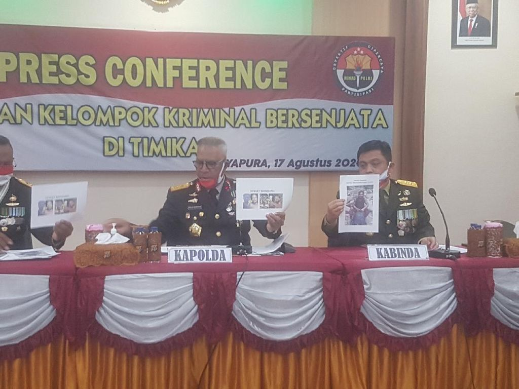 TNI-Polri Sita Rp 22 Juta-Senpi dari Pimpinan KKB Papua Hengky Wanmang