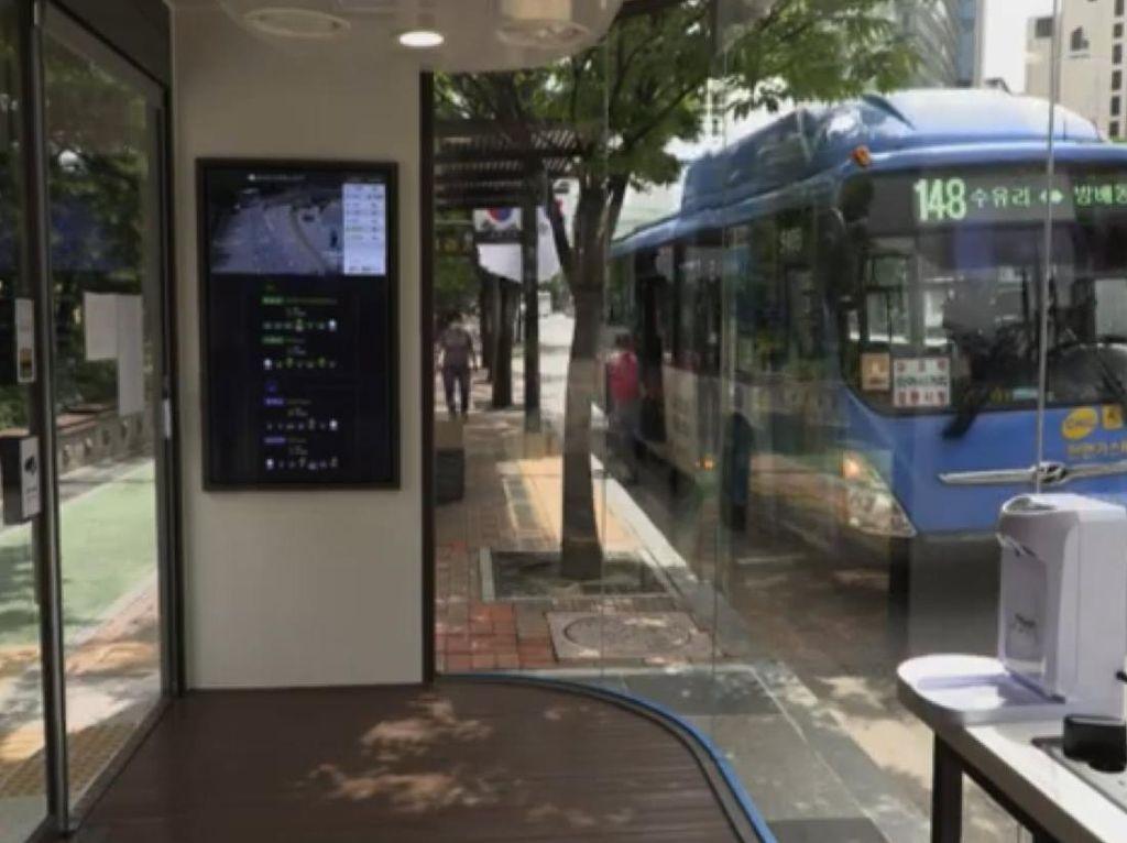 Virus Corona Bisa Hilang di Halte Bus Ini