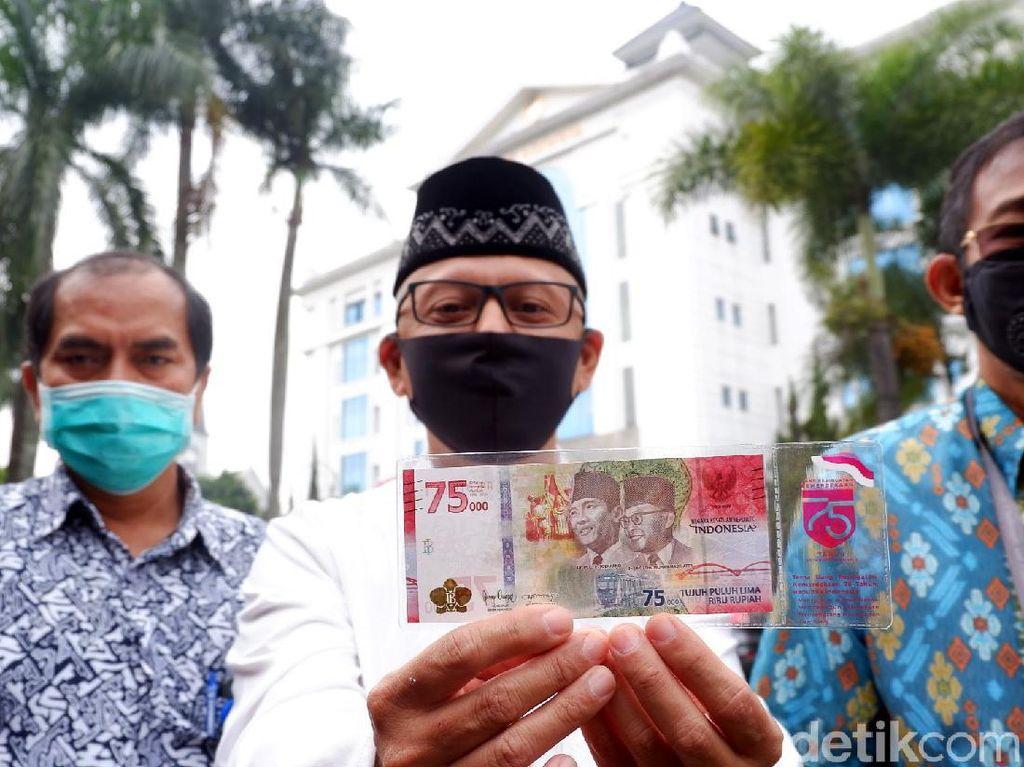 RI Luncurkan Uang Rupiah Baru Pecahan Rp 75.000