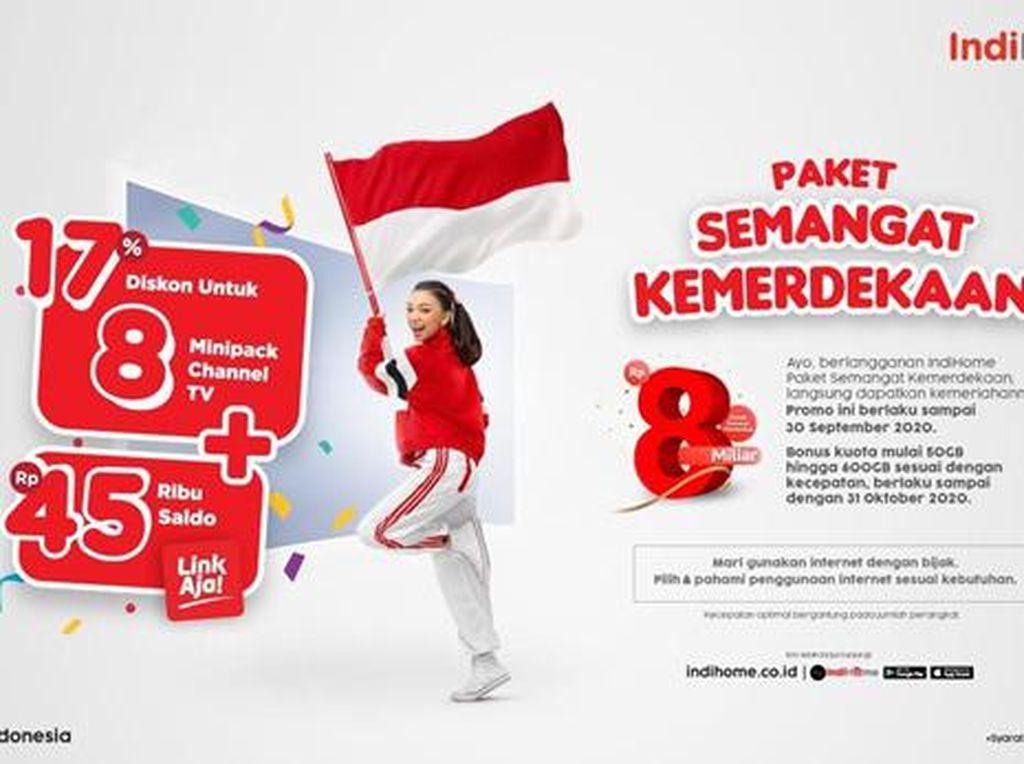 Telkom Luncurkan Paket IndiHome Edisi Kemerdekaan, Bonus Kuota 600 GB