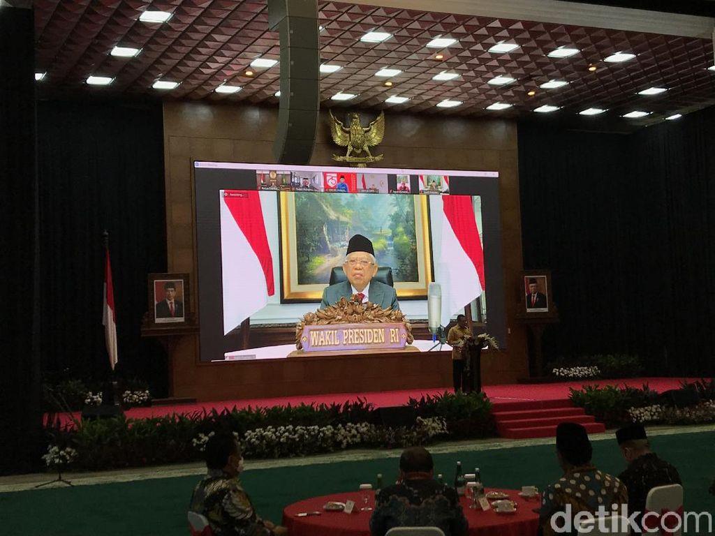Peringatan Hari Konstitusi, Maruf Bicara Pembangunan Terpukul Akibat Corona