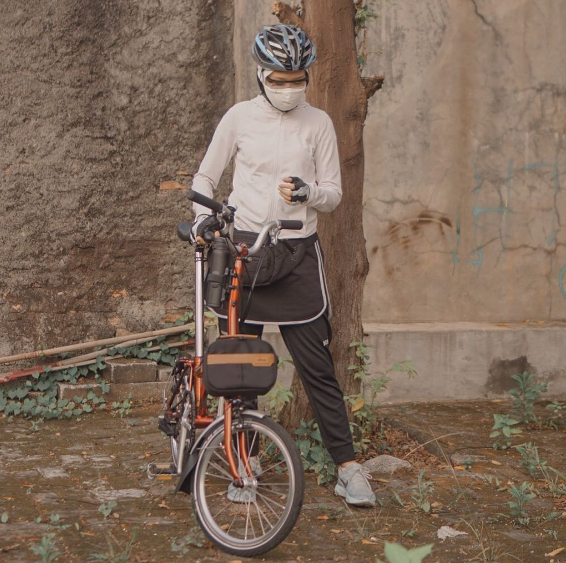 ootd hijab untuk bersepeda